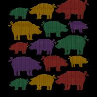 New Year Pigs Lustiges Neujahrs T-Shirt