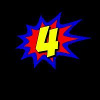 Superheld 4 Jahre alt Geburtstag