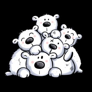 Eisbärhaufen I Eisbär Teddy Kinder Geschenk