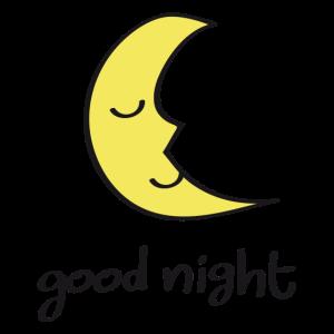 Kleiner Mond wünscht gute Nacht