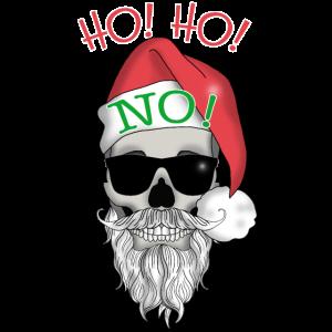 HO! HO! NO! Bad Santa Totenkopf Geschenk