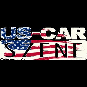 US CAR SZENE LOGO White