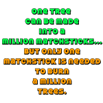 The tree and the matchstick