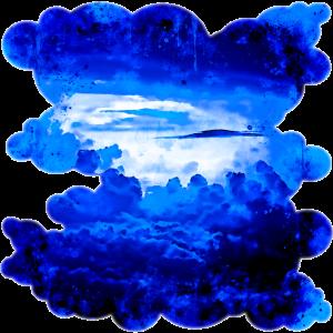 gxp wolkiger Himmel blau Spritzer Wasserfarbe