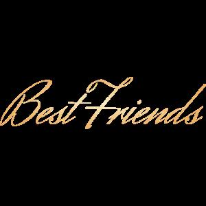 Best Friends goldene schreib Schrift Geschenkidee