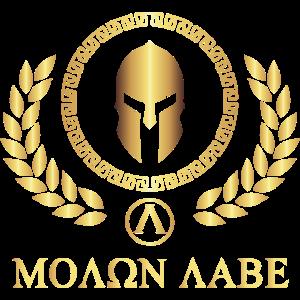 SPARTA - SPARTAN - molon labe - Gold