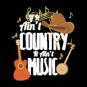 Country Musik Gitarre Western Country Fan Geschenk
