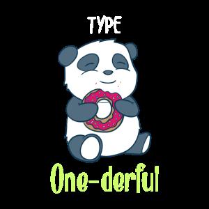 Süßer Panda Bär Diabetiker Typ 1 Geschenk