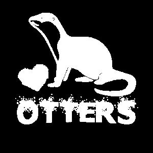 I Love Otters Otter Kinder Motiv Geschenk