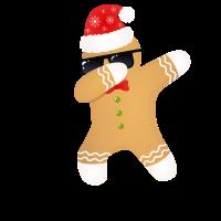 Dabbing Lebkuchenmann Dab - Weihnachten Xmas
