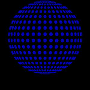discokugel in blau