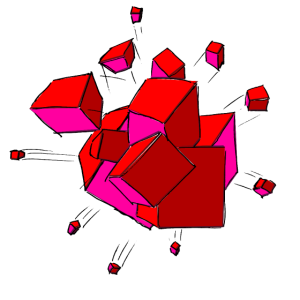 Cube Explosion Pink