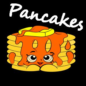 Süßes Pancake Motiv mit Sirup und Butter