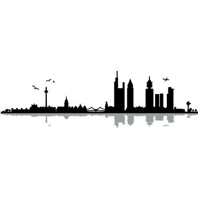 Frankfurt Skyline - Frankfurt Skyline Wahrzeichen - wolkenkratzer,stadt,skyline,Wahrzeichen,Silhouette,Sehenswürdigkeit,Main,Hochhaus,Frankfurter,Frankfurt