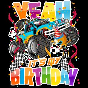 Kinder Es Ist Mein Geburtstag Monster Truck Kind