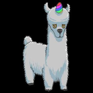Lamacorn Regenbogen lustige Einhorn Lama