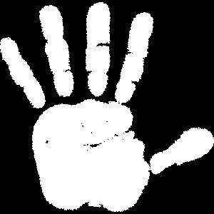 weisse hand