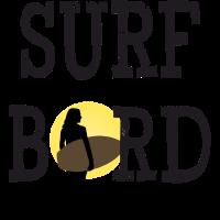 Surf Board Bird Surfergirl Beach Motiv Geschenk