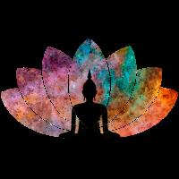 Lotus Flower mit Buddha
