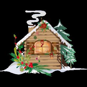 weihnachtliche Hütte