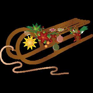weihnachtlicher Schlitten