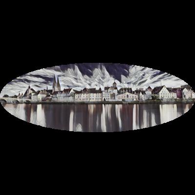 Regensburg - Tolles Panorama von Regensburg - wolken,wasser,wahrzeichen,ufer,städtereise,stimmung,steinbrücke,stadt,spiegelung,romantisch,regensburg,reflexion,mystik,lichter,kirchturm,häuser,historisch,gotische architektur,fluss,donaubrücke,donau,deutschland,bayern,architektur,altstadt