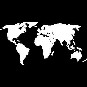 Welt Karte Erde Kontinente Geschenkidee