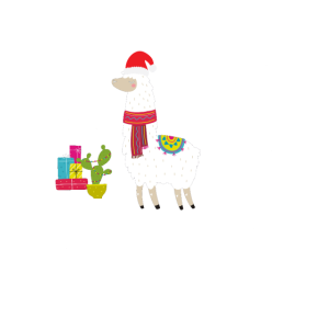 Funny Lama Alpaka Kamel Tier Weihnachten Geschenk