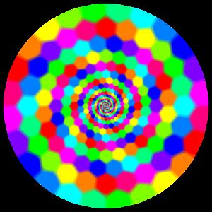Kreise Regenbogen rund