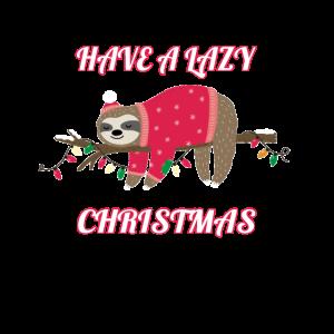 Witziges Faultier Trendtier Weihnachten Geschenk