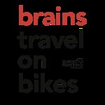 Brains travel on bikes, Typo schwarz