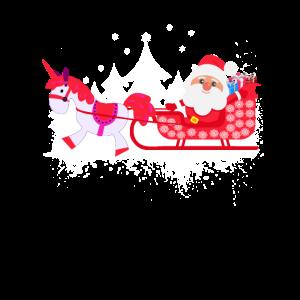 Einhorn Weihnachtsschlitten