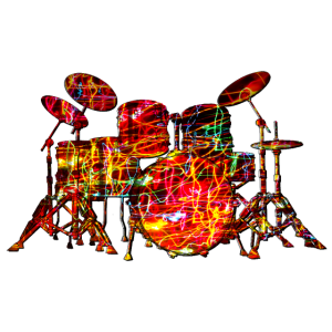 Buntes Schlagzeug