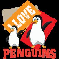 Ich Liebe Pinguin Nordpol Arktis Eisberg