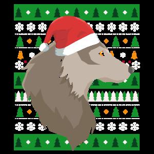 Ugly Christmas Wolf