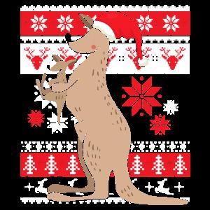 Ugly Christmas Känguru