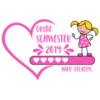 Große Schwester 2019 wird geladen Herz pink