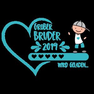 Großer Bruder 2019 wird geladen Herz Junge türkis
