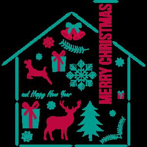 Weihnachten Haus