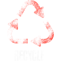 Rotes Recycling Zombile Style Recycle Wieder