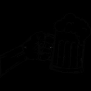 Hand Bier schwarz