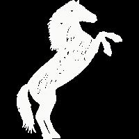 Wildes Pferd - weiß