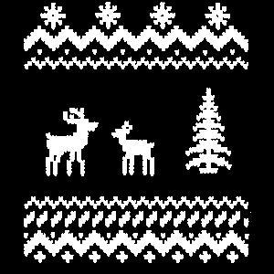 Weihnachten Christmas xmas Rentier Stickmuster