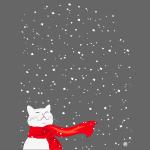Schneekatze weiß