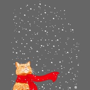 Schneekatze getigert