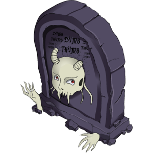 Grabstein für Halloween Time Scary Tomb Lustiges Grab