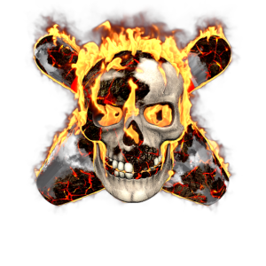 Bowling Hobby Bowler Feuer Totenkopf Kegel