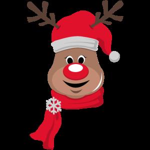 Süßes Rentier Rudolf Rentier Rote Nase Weihnachten