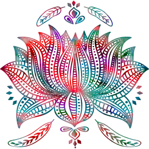 Lotus Muster Bunt