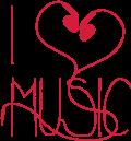 Motif I love music